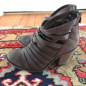 Free People scrappy ankle booties